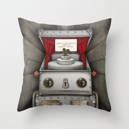 Robot suggests you dance. Throw Pillow