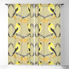Yellow Finch Blackout Curtain