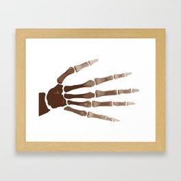Isolated Boney Hand Framed Art Print