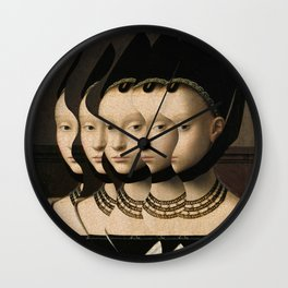 Portrait of a young woman Wall Clock