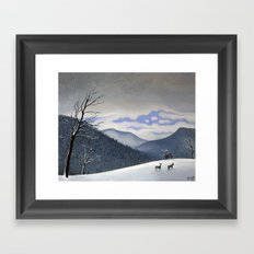 Snow Clearing Framed Art Print