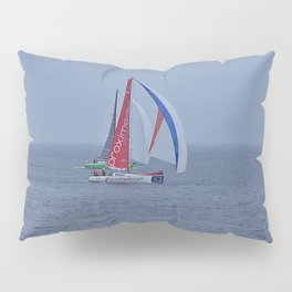 part 2 of 4 of Sailing Battle 42-56  - Transat Quebec St-Malo Pillow Sham