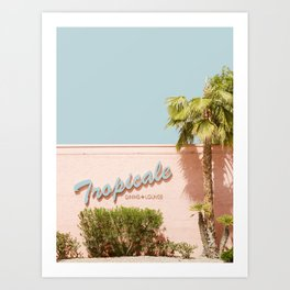 Tropicale Lounge – Retro Palm Springs Photography, Midcentury  Art Print