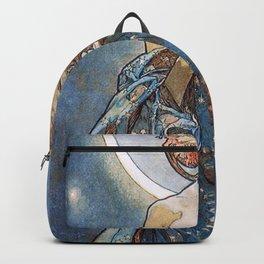 Alphonse Mucha Moonlight Art Nouveau Backpack