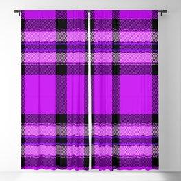 Argyle Fabric Plaid Pattern Purple and Black Colors Blackout Curtain