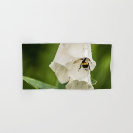 Bumblebee In The Campanula Hand Bath Towel