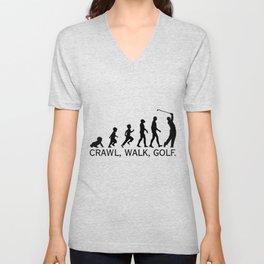 Crawl Walk Golf Unisex V-Neck