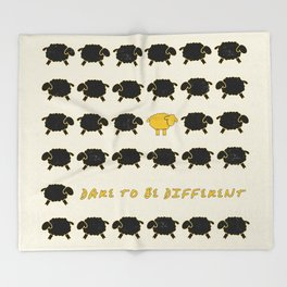 Dare To Be Different Sheep Throw Blanket
