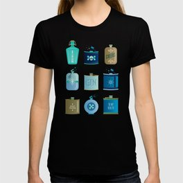 Flask Collection – Blue and Tan Palette T-shirt