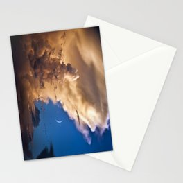 Clouds, Birds, Moon, Venus Stationery Cards