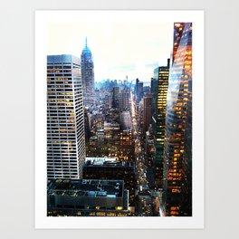 City Lights Art Print