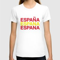 spain T-shirts featuring SPAIN by eyesblau