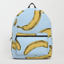 Bananas Pattern Blue Version Backpack