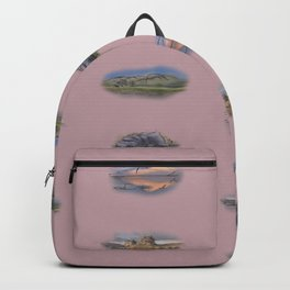 Highland Landmarks in pink Backpack