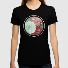 Floribus Orbis SMALL Black Womens Fitted Tee