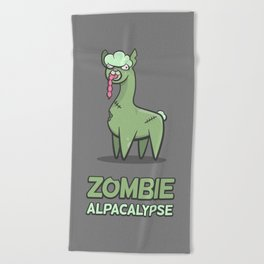 Zombie Alpacalypse Beach Towel