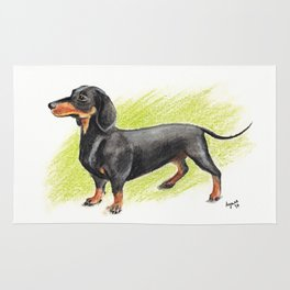 Dachshund (includes rescue donation!) Rug