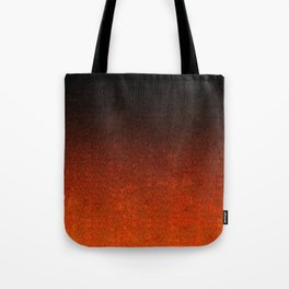 Orange & Black Glitter Gradient Tote Bag