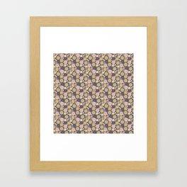 Colourful Flower Medley on Dark Purple Framed Art Print