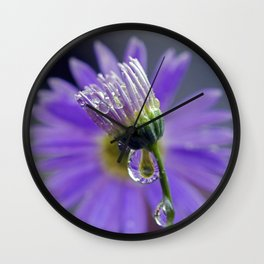 Purple dew 2 Wall Clock