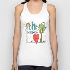 Home is Where the Heart Is Unisex Tank Top
