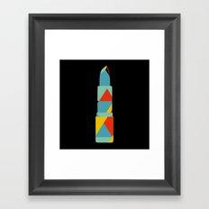 Lipstick Hues on Black Framed Art Print