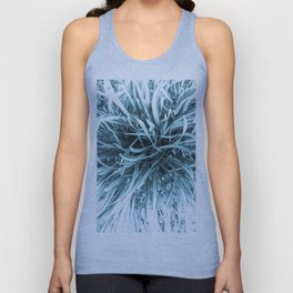 Teal infrared grass Unisex Tank Top