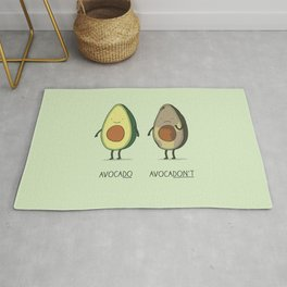 Eat avocado right! Rug