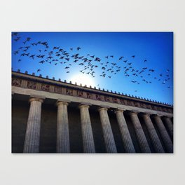 Temple Flight Canvas Print