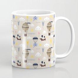 Hot-air balloon nursery seamless pattern Coffee Mug