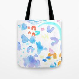 Watercolor Abstract Splash Tote Bag
