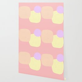 Let's Appreciate Our Shapes no.10 - pink modern minimalist art simple design Wallpaper