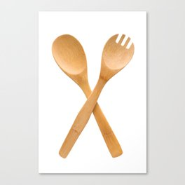 Crossed fork and spoon sign Canvas Print