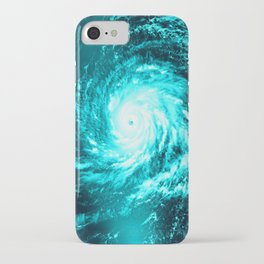 WaTeR Aqua Turquoise Hurricane iPhone Case