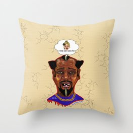 The Weakest Man On Earth Throw Pillow