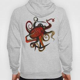 octopus ink teal Hoody