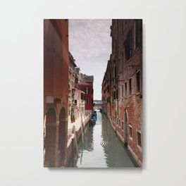Venice canals, Travel to Venice, Italy Metal Print