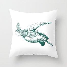 Kemp's Ridley Sea Turtle Throw Pillow