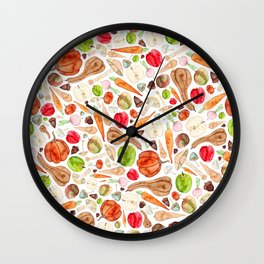 Fruit and Vegetables  Wall Clock