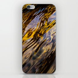 River Ripples in Copper Gold Blue and Brown iPhone Skin