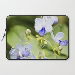 Blue Glory Bower Flowers Laptop Sleeve