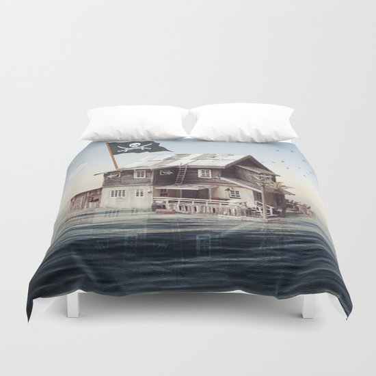 Home on the water Duvet Cover