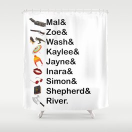 Firefly Names Shower Curtain