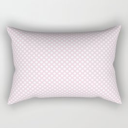 Ballet Slipper and White Polka Dots Rectangular Pillow