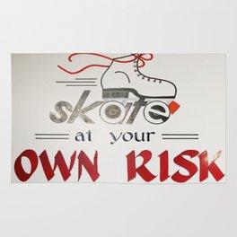 Roller Skate at Your Own Risk Rug