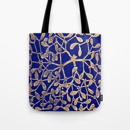 Mistletoe Blue Tote Bag