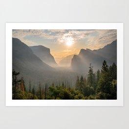 Morning Yosemite Landscape Art Print