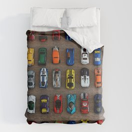 1980's Toy Cars Duvet Cover
