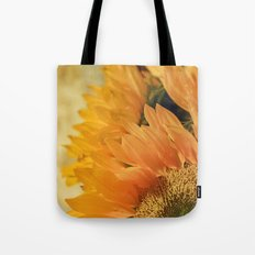 Here Comes the Sun -- Sunflower Botanical Tote Bag