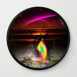 Our world is a magic - Sunset Wall Clock
